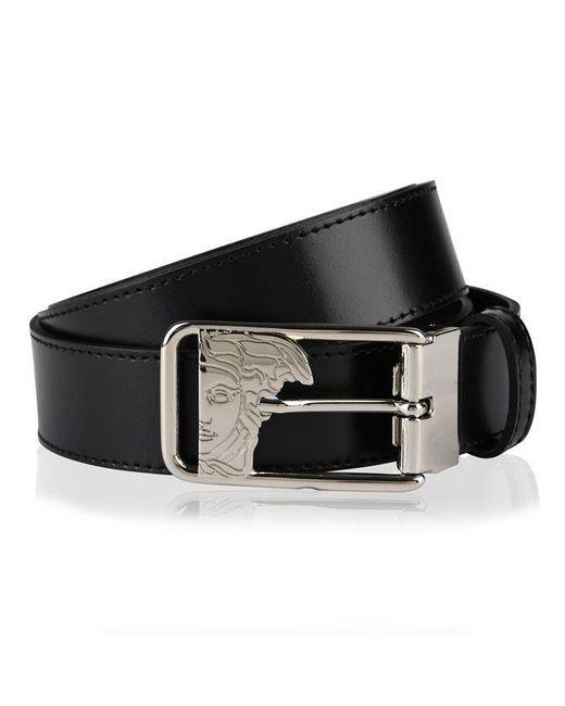 Versace Black Medua Buckle Belt for men