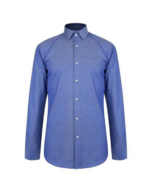 BOSS Blue Isko Long Sleeve Shirt for men