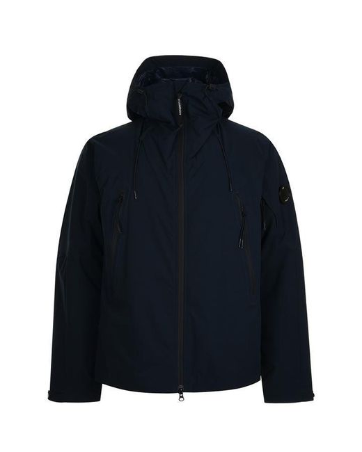 C P Company Blue Pro Tek Lens Hooded Jacket for men