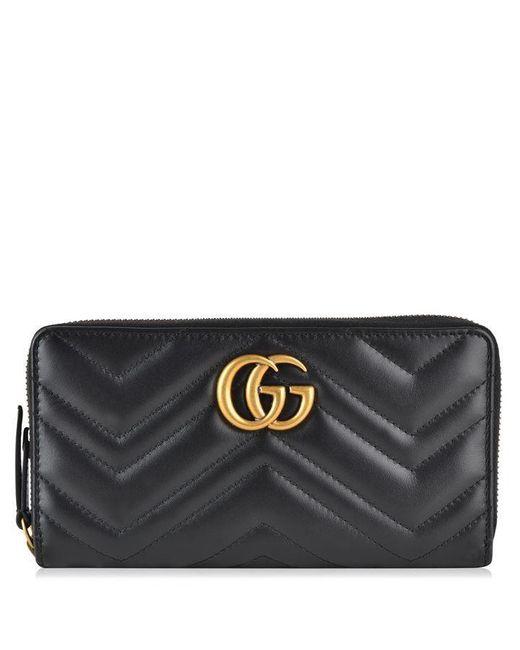 Gucci Black Marmont Zip Purse