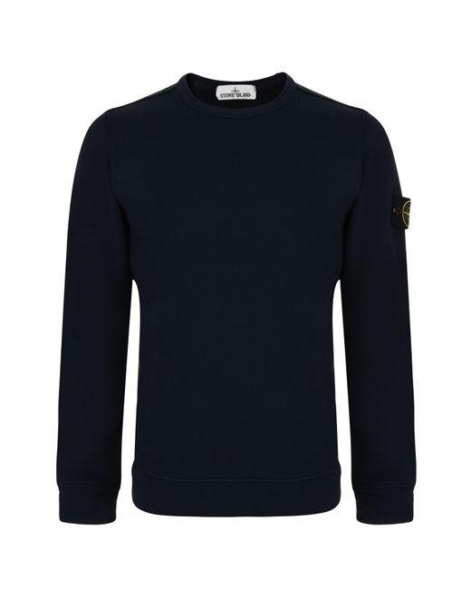 Stone Island - Blue Badge Sleeve Sweatshirt for Men - Lyst