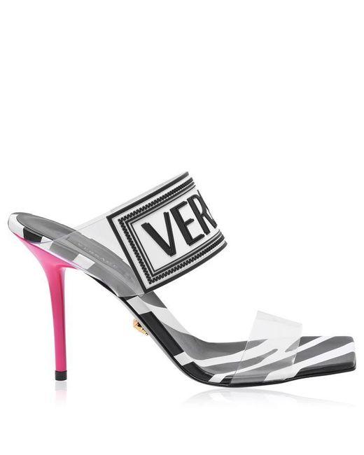 Versace Multicolor Logo Heels