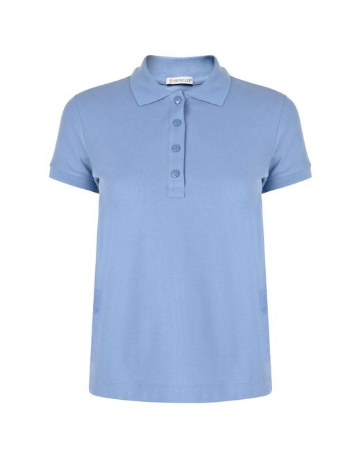7ec6a55d29fa Lyst - Moncler Maglia Polo Shirt in Blue for Men