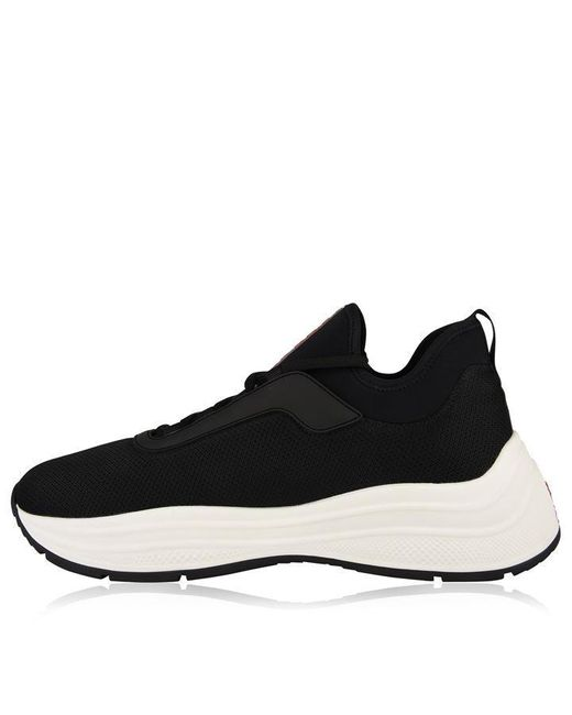 Dek MOON Touch Fastening White Blue Soft Top Running Trainers