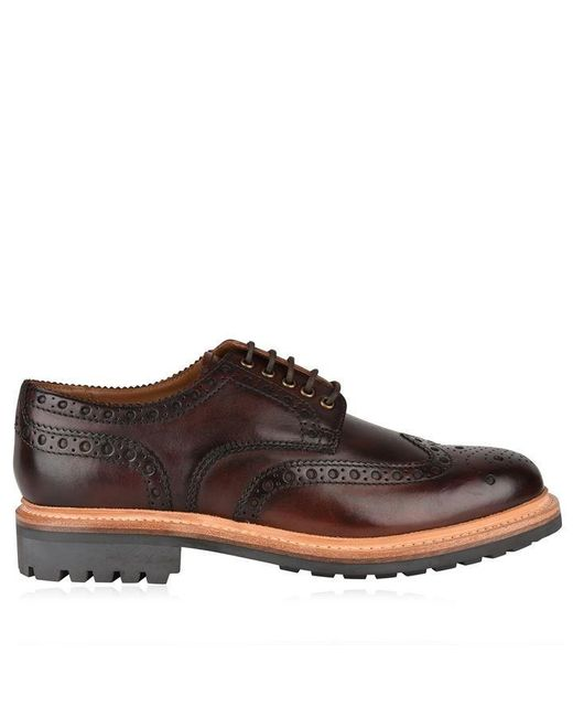 GRENSON Brown Archie Brogues for men