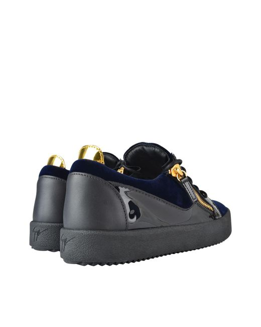 8a8dfb0c0ad ... Giuseppe Zanotti - Blue May Velvet Panel Low Top Trainers for Men - Lyst  ...