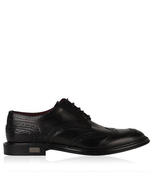 Dolce & Gabbana Black Marsala Brogues for men
