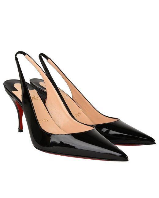 best sneakers 9d9d4 16dfa Women's Black Clare Slingback Patent Heels