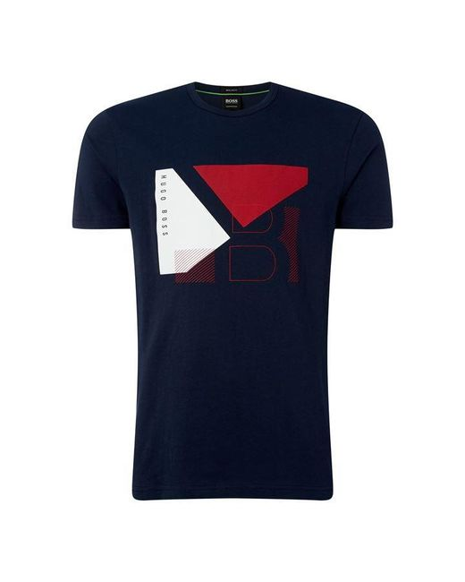 a23046de4 BOSS Athleisure - Blue Hbg Graphic T Shirt Sn92 for Men - Lyst ...