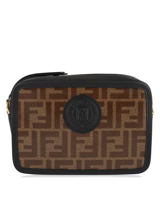 Fendi - Black Logo Printed Canvas   Leather Camera Bag - Lyst ... f2a8d42396c01