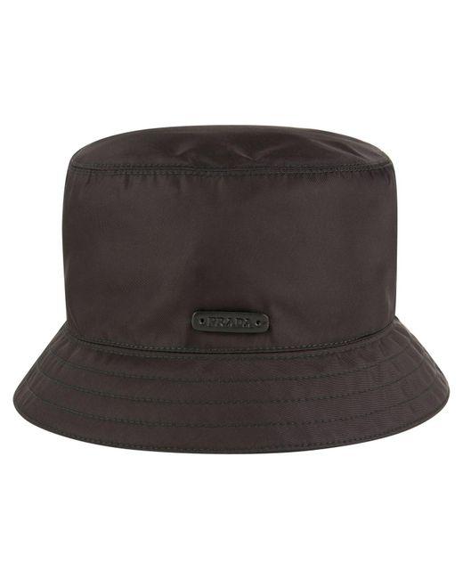 Prada - Black Nylon Bucket Hat for Men - Lyst ... 3211333e8a7