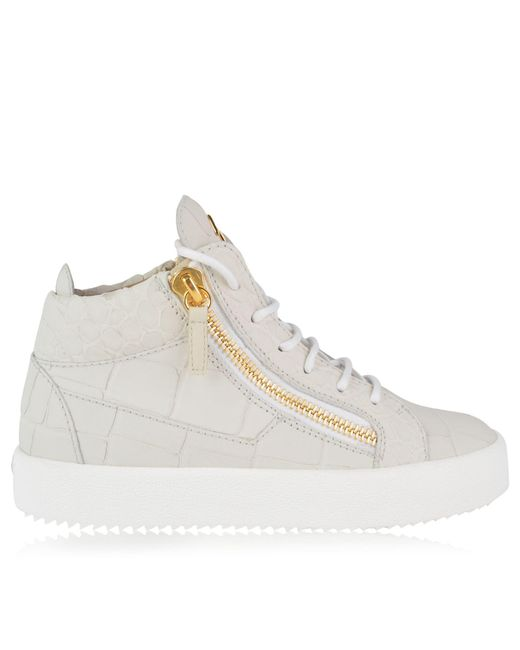 Giuseppe Zanotti - Multicolor Croc Python Embossed May Trainers - Lyst