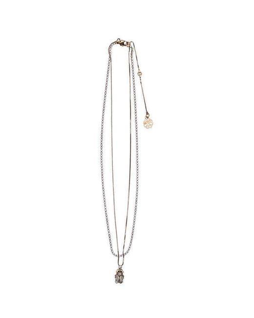 Alexander McQueen Metallic Beatle Necklace