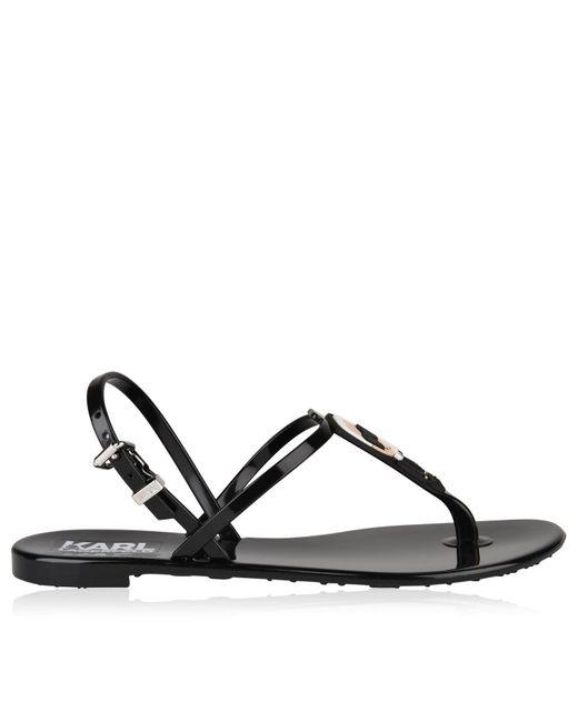 Karl Lagerfeld - Black Jelly Sandals - Lyst
