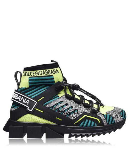Dolce & Gabbana Green Sorrento High-top Sneakers for men