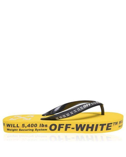 Off-White c/o Virgil Abloh Yellow Industrial Flip Flops for men