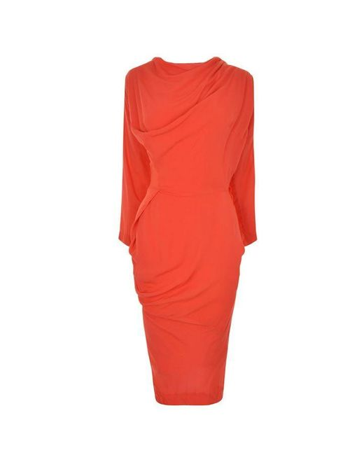 Vivienne Westwood Anglomania Red New Fond Dress