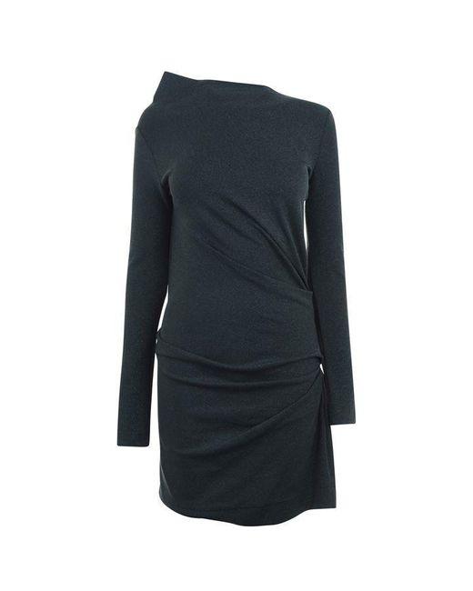 Vivienne Westwood Anglomania Blue Anglomania Mini Taxa Lurex Dress