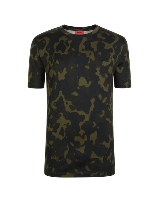 53814c8c7aa3 HUGO - Green Durned Camouflage T Shirt for Men - Lyst ...
