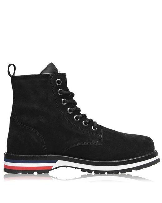 Moncler Black Vancouver Lace Up Boots for men