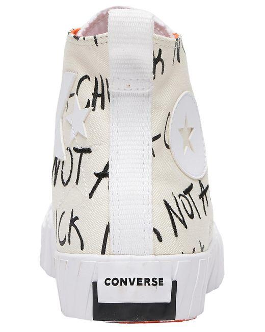 Converse White Unt1tl3d Hi Basketball Shoes for men