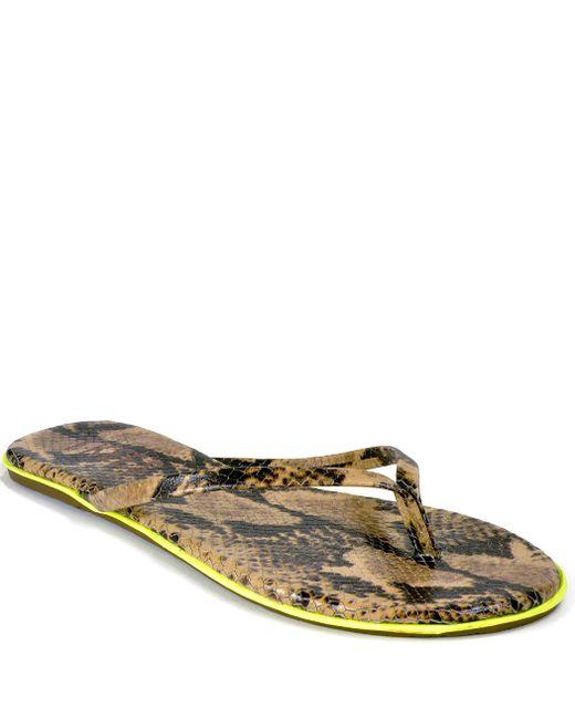 TKEES | Black Leather Thong Sandal | Lyst
