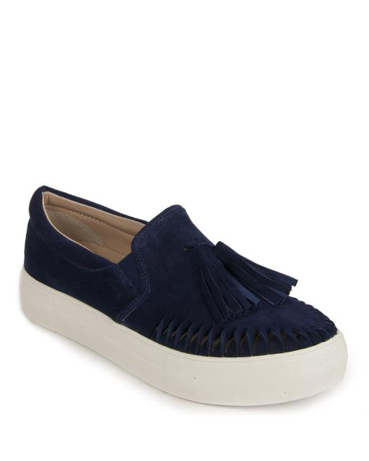 J/Slides - Blue 'aztec' Tassel Slip-on Sneaker - Lyst