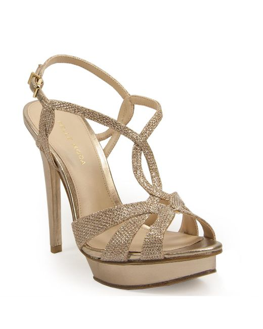 Pelle Moda | Metallic Platform Sandal | Lyst