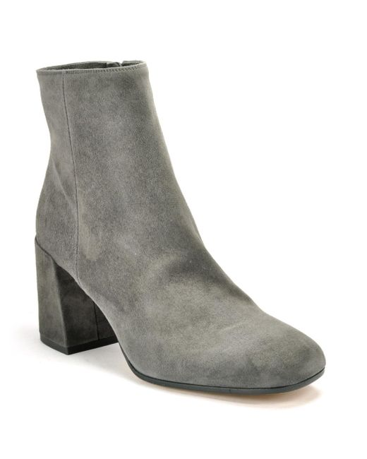 Vince - Gray Suede Ankle Boot - Lyst