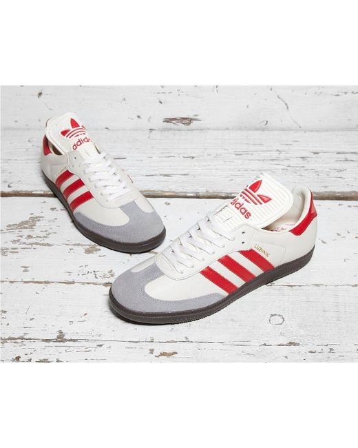 ... Adidas Originals - Samba Classic Og Trainers Chalk White scarlet clear  Granite for Men ... 4c0a2e461