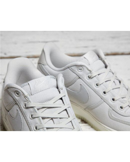 brand new e0092 27ddd ... Nike - Gray Air Force 1 Low Retro Qs Canvas for Men - Lyst ...