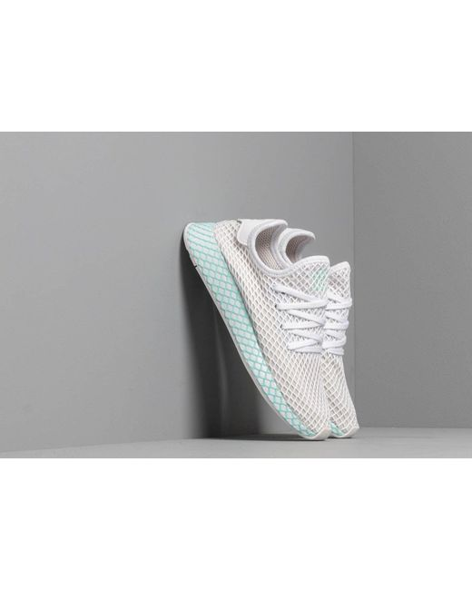 ca94a880f Adidas - Multicolor Adidas Deerupt Runner W Ftw White  Grey One  Clear Mint  ...