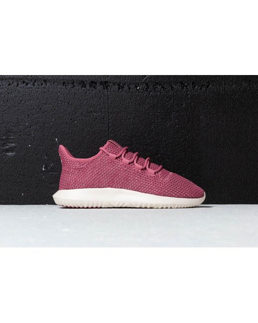 adidas Originals TUBULAR SHADOW - Trainers - trace maroon/chalk white/cloud white 1KpBA