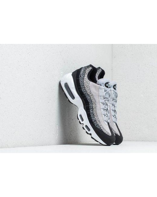 free shipping 199bd 46b3d Nike - Wmns Air Max 95 Premium Black  Black-wolf Grey-white ...