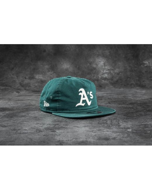 KTZ | 9fifty Chain Stitch Oakland Athletics Cap Dark Green for Men | Lyst