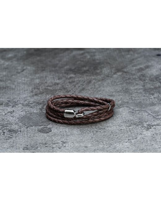 Footshop | Metallic Miansai Trice Bracelet With Sleeve Silver/ Brown | Lyst