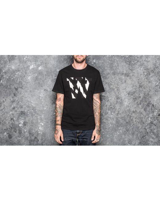 Footshop | Wood Wood Aa Two Tones T-shirt Black for Men | Lyst