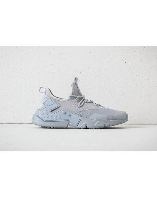 ... Nike - Gray Air Huarache Drift Wolf Grey/ White for Men - Lyst ...