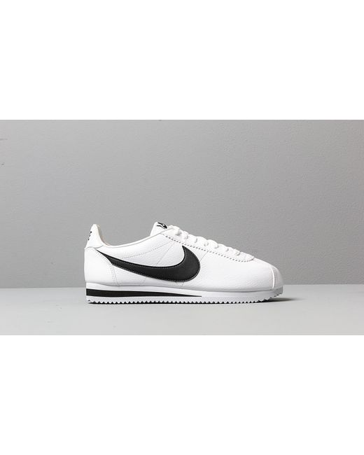 low priced 81add ff0d9 Men's Classic Cortez Leather White/ Black