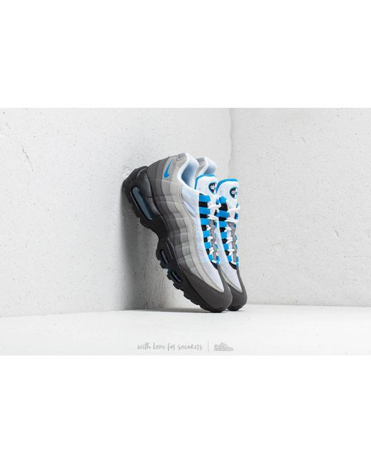 Lyst - Nike Air Max 95  99 White  Crystal Blue in Blue for Men 682d7d0c6e