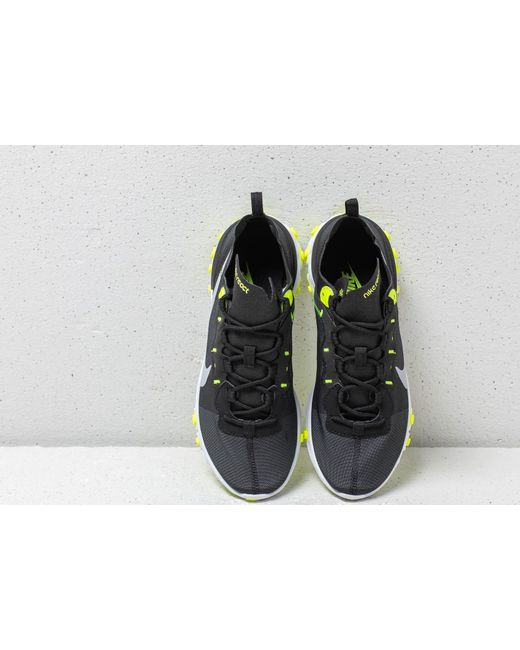 authorized site half off reliable quality Nike Rubber React Element 55 Wmns Black/ Wolf Grey-volt-cool ...