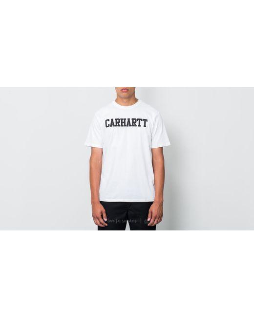 Carhartt WIP - College Shortsleeve Tee White/ Black for Men - Lyst