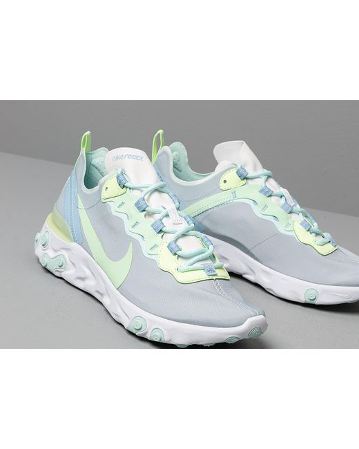 5b4c129cdab0 Lyst - Nike W React Element 55 White  Frosted Spruce-barely Volt in ...