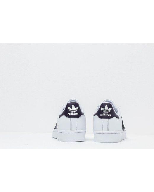 timeless design e2db6 bc03a ... Adidas Originals - Adidas Superstar W Ftw White  Legpur  Core Black -  Lyst ...