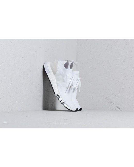 Lyst adidas originali adidas nmd racer primeknit ftw bianco / ftw