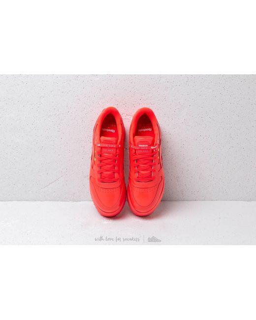 f3be4beb2977 ... Reebok - Reebok X Gigi Hadid Classic Leather Triple Platform Neon Red   White - Lyst ...