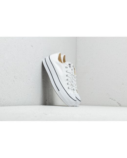 869c10ba01e2 Lyst - Converse Chuck Taylor All Star Lift Ox White  Black  White in ...