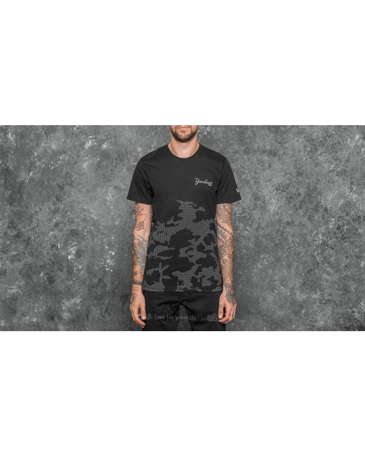 KTZ - Ntc Reflective New York Yankees Tee Black Camo for Men - Lyst
