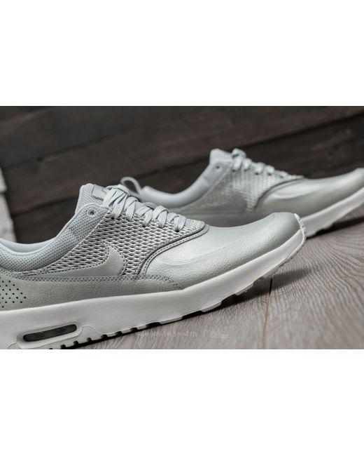 ... Nike - Wmns Air Max Thea Premium Lea Metallic Platinum/ Pure Platinum  for Men ...