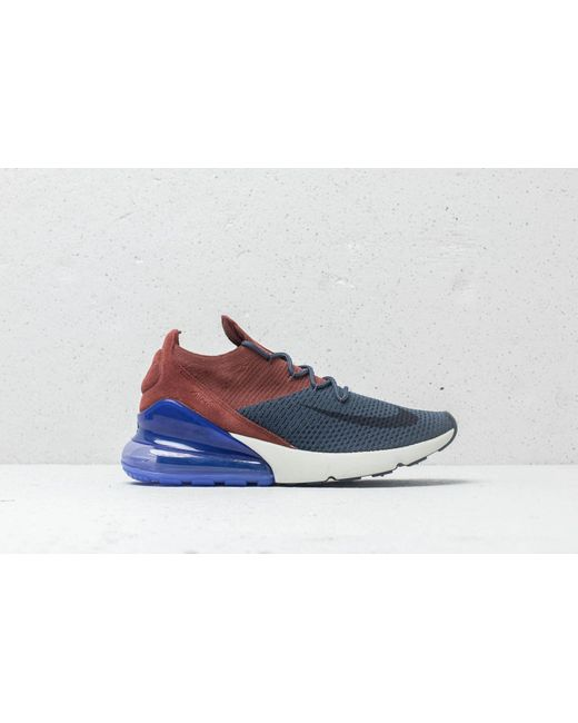 ... Nike - Air Max 270 Flyknit Thunder Blue  Grid Iron for Men - Lyst ... 51fc68444d14